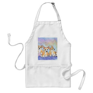 A cuddle of corgis adult apron