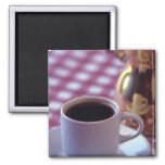 A cup of Arabic Coffee. Syria. The Middle 2 Inch Square Magnet