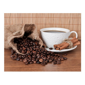 A Cup of Coffee and a Cinnamon Stick Postcard