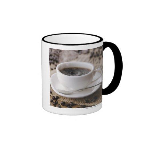 A cup of coffee ringer coffee mug