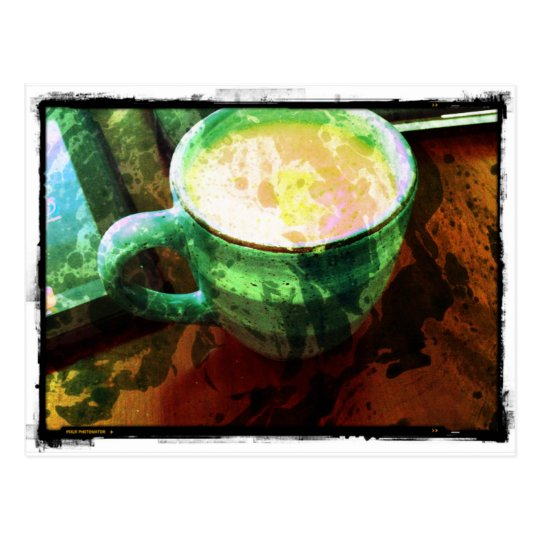 A cup of happiness postcard