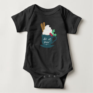 A Cup of Let It Snow Baby Bodysuit