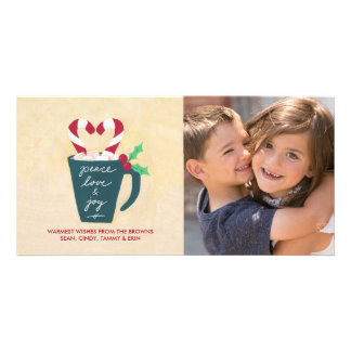 A Cup of Peace, Love and Joy Photo Card