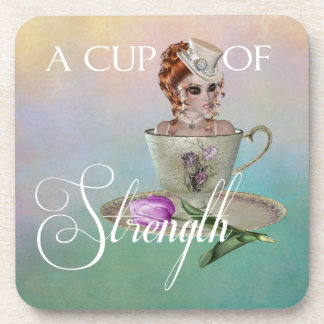 A cup of strength coasters