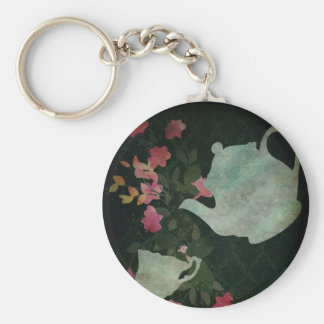 A cup of tea Keychan Basic Round Button Keychain