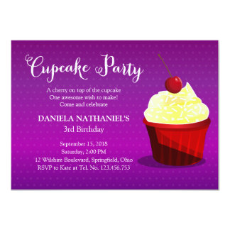A Cupcake Birthday Party Card