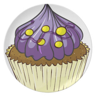 A cupcake party plate