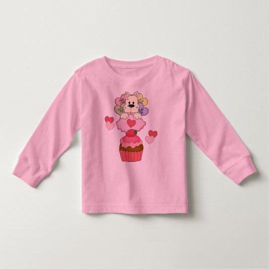 A Cupcake Puppy Valentines Toddler T-shirt