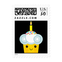 A Cupcake Rainbow BIRTHDAY PARTY Postage Stamp 2