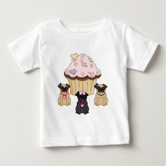A Cupcake Sweet Pug Dogs Tee Shirt