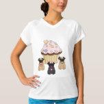 A Cupcake Sweet Pug Dogs Tees
