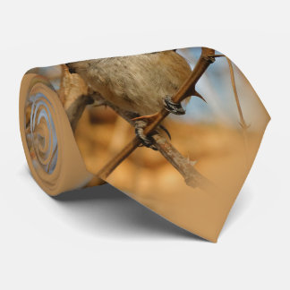 A Curious and Hungry Black-Capped Chickadee Neck Tie