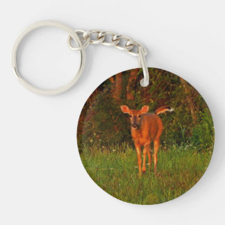 A Curious Doe Keychain