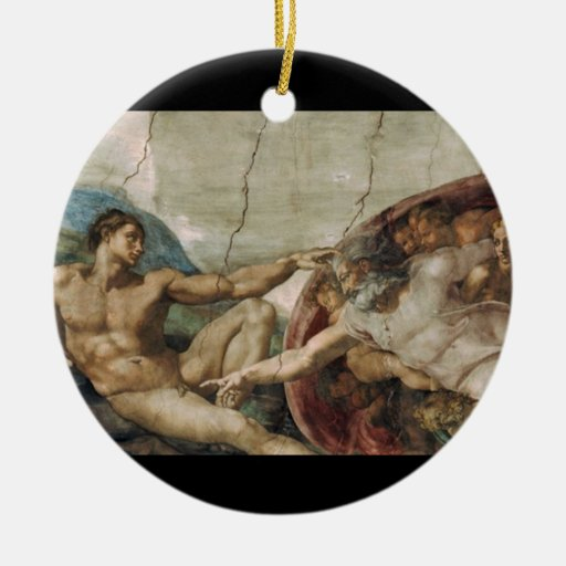 A curious god. ceramic ornament