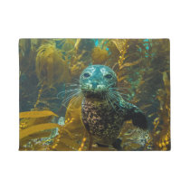 A Curious Harbor Seal Kelp Forest | Santa Barbara Doormat