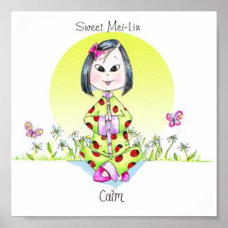 "A Customizable ""Calm""  petite poster"