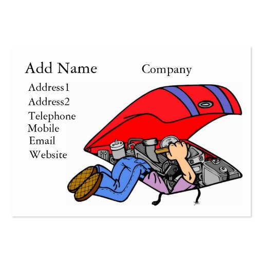 Mechanic business cards chubby size bizcardstudio a customizable mechanics businessprofile card business cards colourmoves