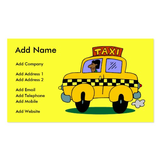 A Customizable Taxi Business/Profile Card Business Card