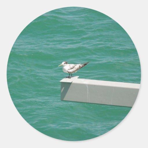 A Cut Fishing Bird On The Side Of Strut Above Wate Sticker