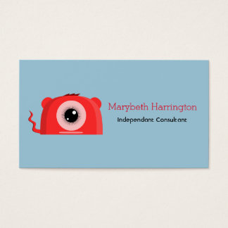 A Cute and Friendly Cyclops Mutant Monster Business Card
