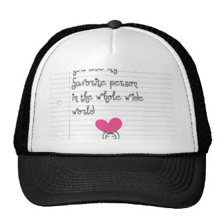 A cute and quirky doodle for mums. trucker hat
