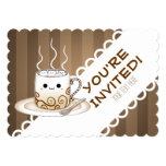 A Cute Anime Style Kawaii Warm Cup Of Cocoa Card at Zazzle