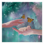 A cute baby boy in hand fantasy poster