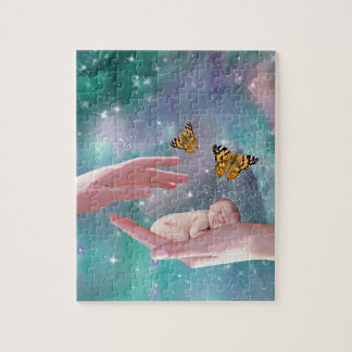 A cute baby in hand fantasy jigsaw puzzles