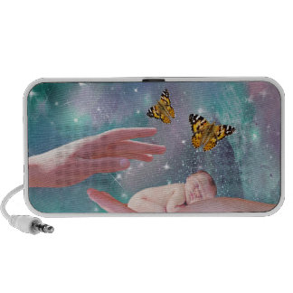 A cute baby in hand fantasy PC speakers