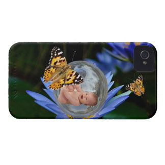 A cute baby lily butterfly bubble Case-Mate blackberry case