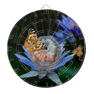 A cute baby lily butterfly bubble dartboard