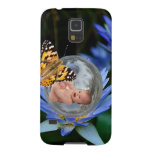 A cute baby lily butterfly bubble galaxy s5 case