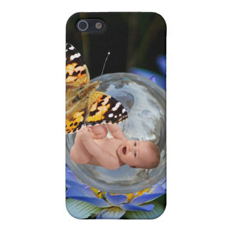 A cute baby lily butterfly bubble iPhone 5 cases