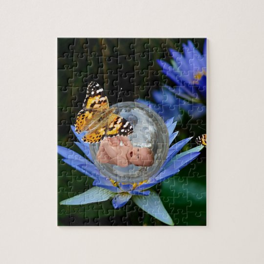 A cute baby lily butterfly bubble jigsaw puzzle
