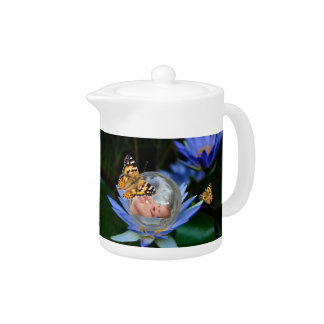 A cute baby lily butterfly bubble