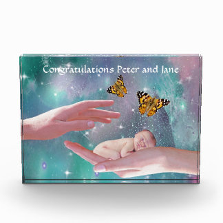 A cute baby pregnancy acrylic award