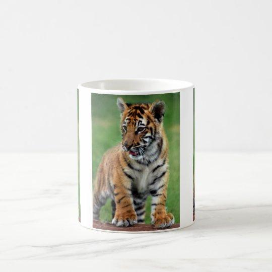 A cute baby tiger coffee mug