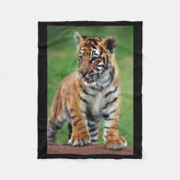 Toddler & Baby themed A cute baby tiger fleece blanket
