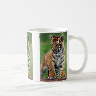 A cute baby tiger mugs