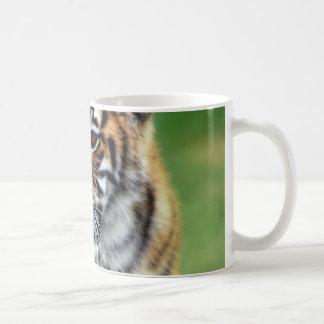 A cute baby tiger mug