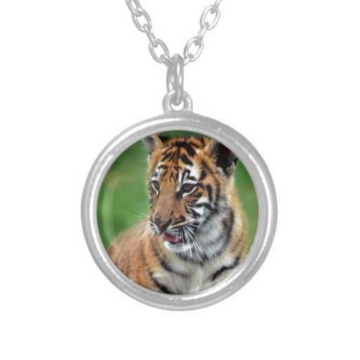 A cute baby tiger custom necklace