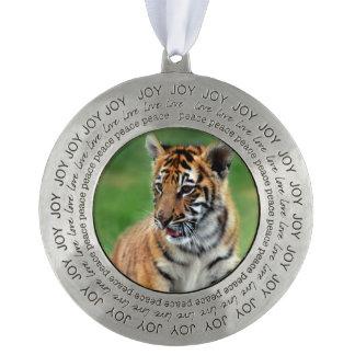 A cute baby tiger ornament