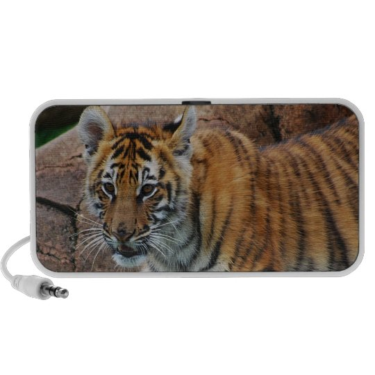 A cute baby tiger portable speaker