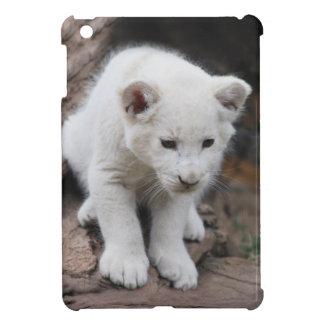 A cute baby white lion iPad mini cover