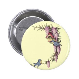 A Cute Birdhouse Button