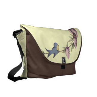 A Cute Birdhouse Courier Bag