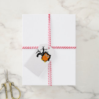 A Cute Brown Owl Gift Tags
