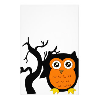 A Cute Brown Owl Stationery