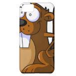 A Cute Cartoon Beaver Character Holding a Log iPhone 5C Case