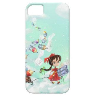 a cute cartoon girl iPhone 5 Cases
